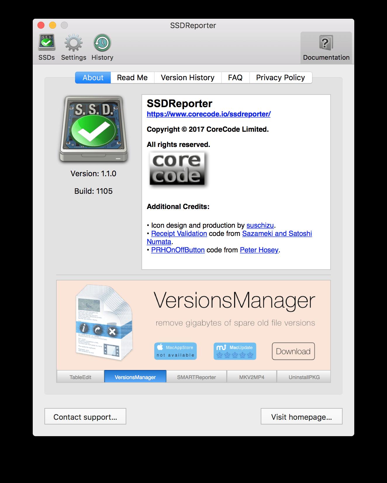 Mac SSDReporter - check & monitor your SSD / Flash Storage