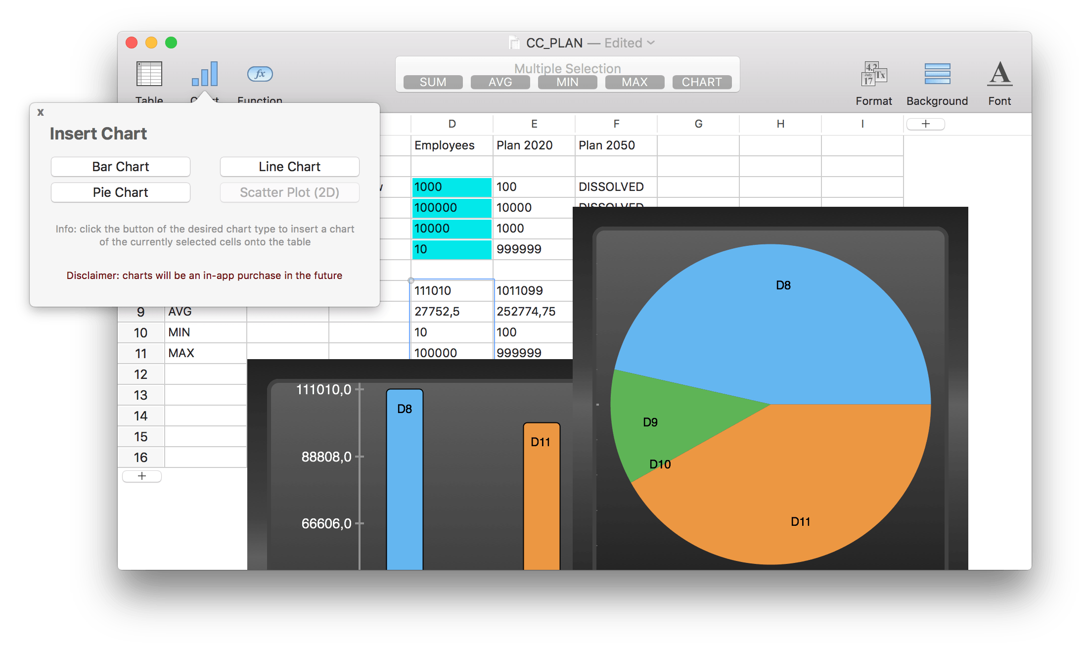 Introducing TableEdit for OS X - A Mac-like Spreadsheet Image